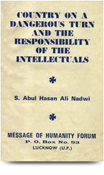 country on a dangerous turn and responsibitity of the intellectuals