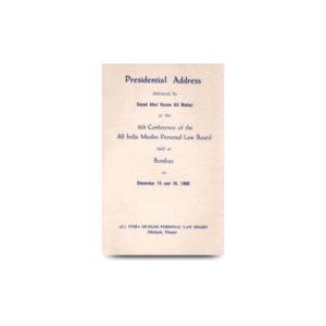Presidential Address Mumbai On 15th Dec 1986